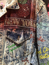 Vintage 1987 Authentic Tony Alamo Rhinstone Crystal Studded Painted Jacket Jackets