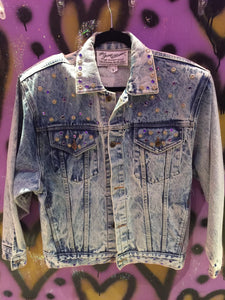 Vintage 1987 Designer Jean Jacket WB Warner Bros TONY ALAMO | Jackets - 80s 90s Retro Vintage Clothing | Spark Pretty