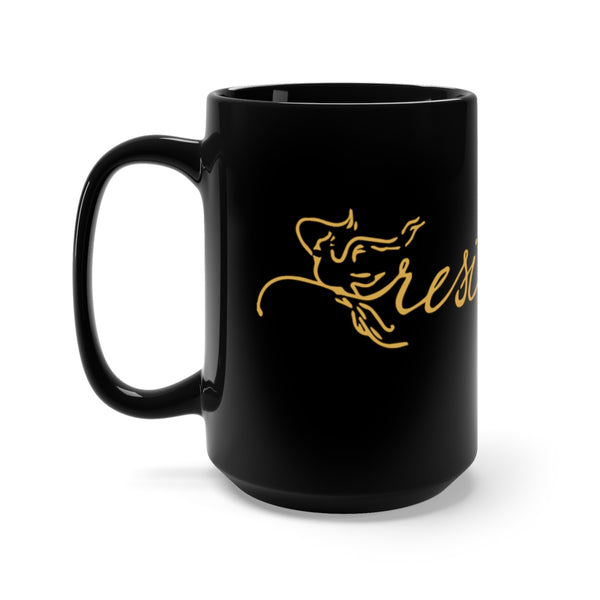 Resilience Rose Gold Black Mug 15oz