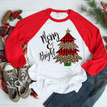 Merry Christmas Tee- Multiple Styles