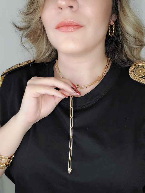 Gold Filled Necklaces, Vintage Necklace, Minimalist Jewelry, Hello Luxy, Fine Jewelry, Tik Tok Jewelry, Tik Tok Fashion, Best Gift for wife, Wife best gift, rope Chain, Chunky chain