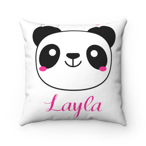 Panda Polyester Square Pillow