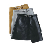 Elif Leather Skirt