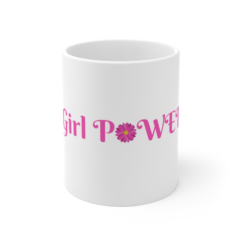 Girl Power White Ceramic Mug