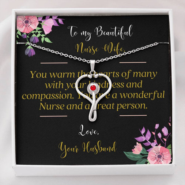 Nurse Wife Stethoscope Necklace