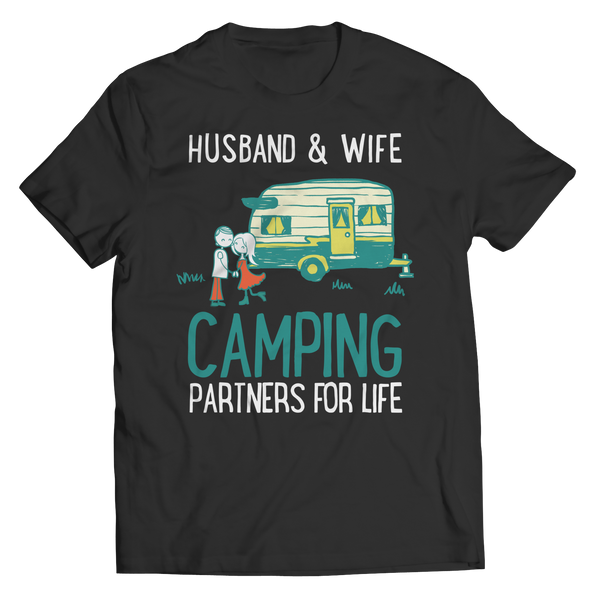 Husband And Wife Camping Partners