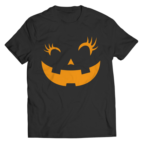 Eye Lashes - Pumpkin Face Tee