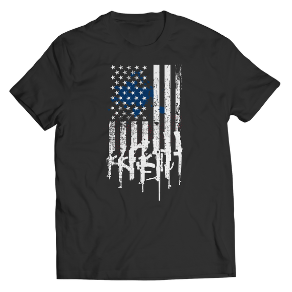 American Flag Rifles T-Shirt