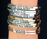 Show your Mantra Stainless steel Open Cuff Bracelet