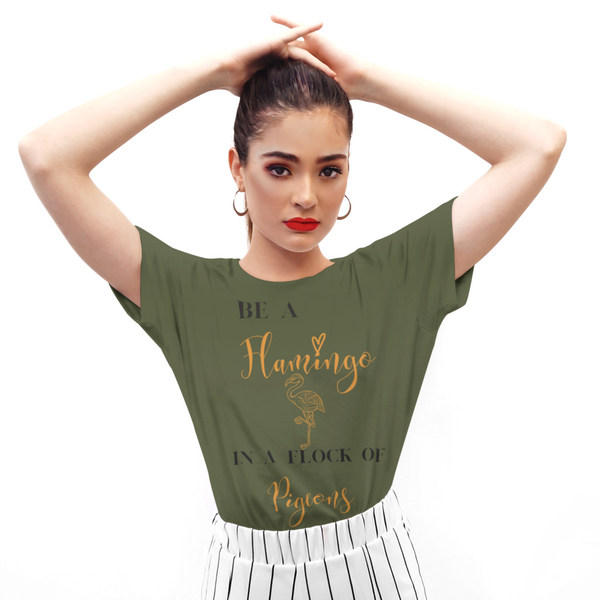 Be a Flamingo Gold Tee