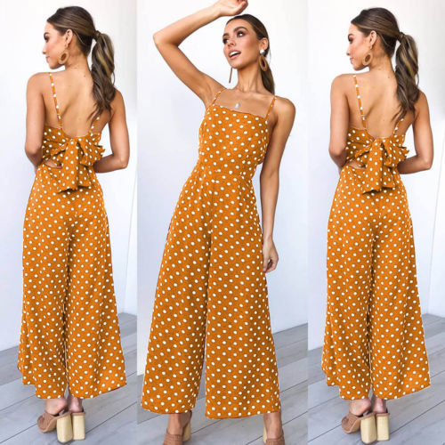 Summery Polka Dots Jumpsuit