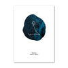 Zodiac Blue Wall Art