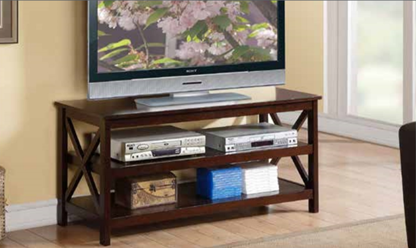 Dark Finish Wood Entertainment Center