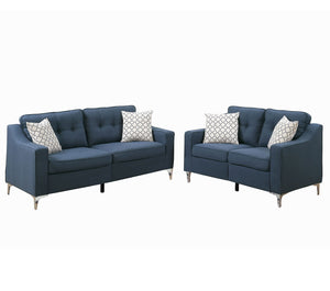 Sofa and Loveseat, Navy (Modern)