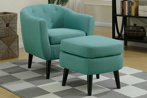 California Chic - Accent Chair & Ottoman