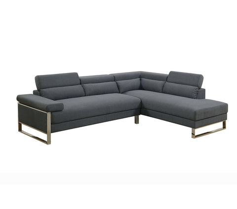 Modern Sectional Set, CHARCOAL