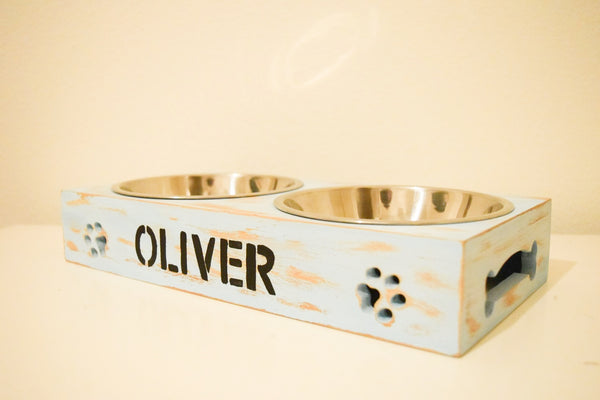 Handmade Personalized Cat/Dog Bowl Stand