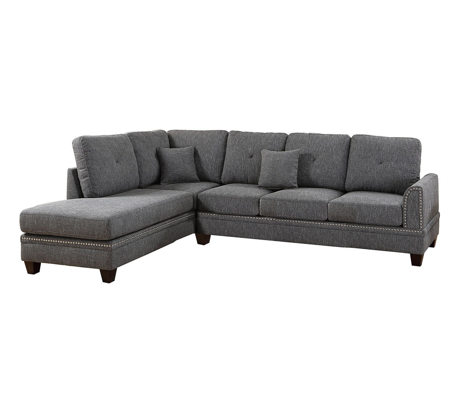 Sectional (Contemporary Style),  Ash Black