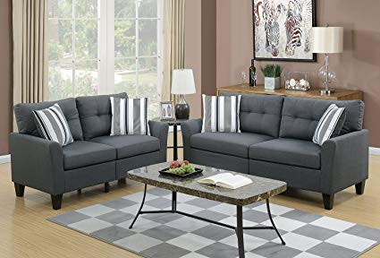 Contemporary Design - Sofa & Loveseat