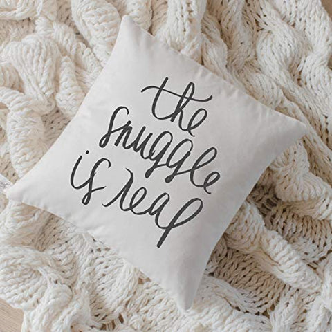 """The Snuggle is Real"" Accent Pillow"