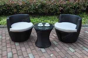 Outdoor Patio Conversation Set (3 PCS)