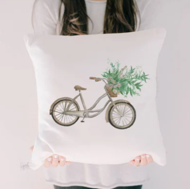Vintage Bike Accent Pillow