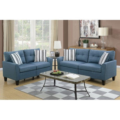 Sofa and Loveseat, Blue (Coastal)