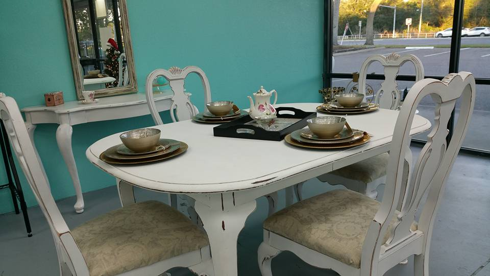 French Provincial Antique (Refinished) Dining Set