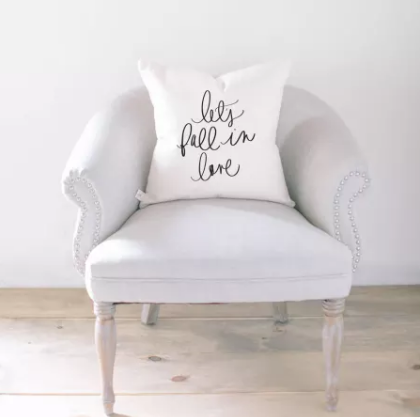 """Lets Fall In Love"" Accent Pillow"