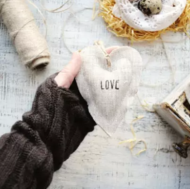 Lavender Scented Linen Heart Ornaments