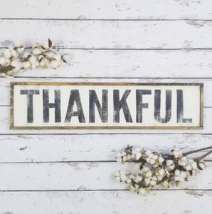 """Thankful"" Wall Decor Sign"