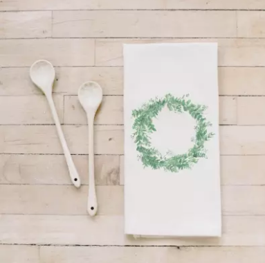 Wreath Tea Towel