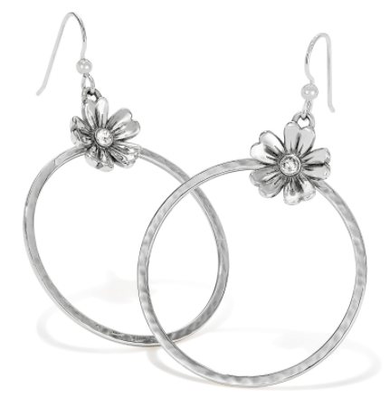 Brighton Flora French Wire Hoop Earrings