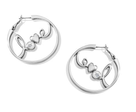 Brighton Love You Leverback Hoop Earrings