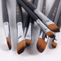Round Nylon Paint Brushes - Set of 9