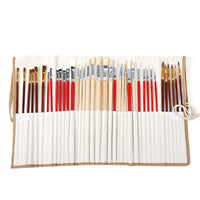 Paint Brushes With Canvas Bag - Set of 38