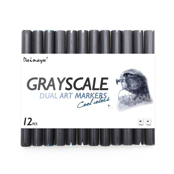 STA Grayscale Markers - Set of 12