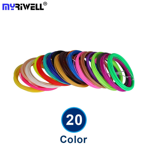 20 color or 10 color/set 3D Pen Filament ABS/PLA 1.75mm Plastic Rubber Printing Material For 3D Printer Filament