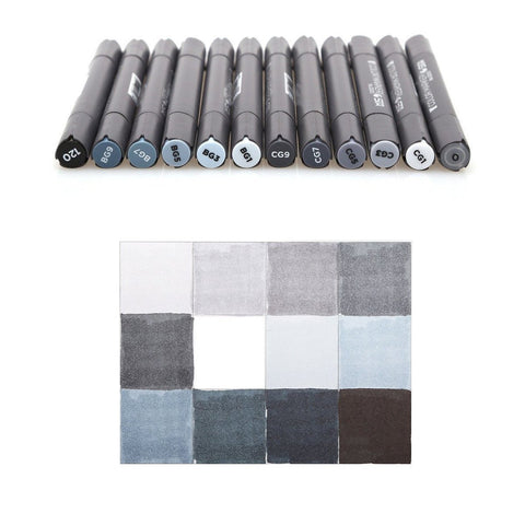 STA Greyscale Markers - Set of 12