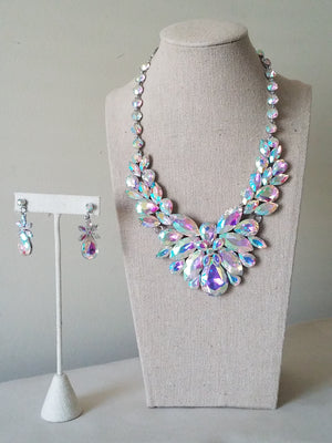 Rhinestone Statement Necklace Set