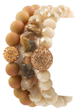 Faceted Bead  Stone Bracelet