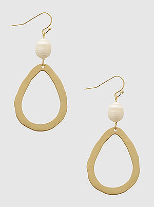 Teardrop Freshwater Pearl Earrings