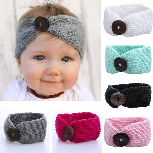 Baby Girl Wool Knitted Headbands Winter Kids Newborn Hair Head Wrap Turban Headband Headwear Infant Hair Headwrap Accessories