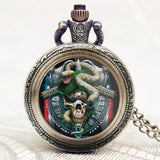 Army Special Force/Delta Force/Cobra/Marshal Cool Pocket Watch United States Gift Necklace