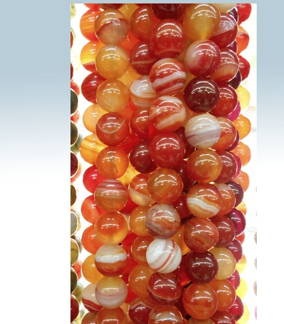 Red  Beads Round Carnelian Selectable 4 6 8 10 mm Natural Stone Beads