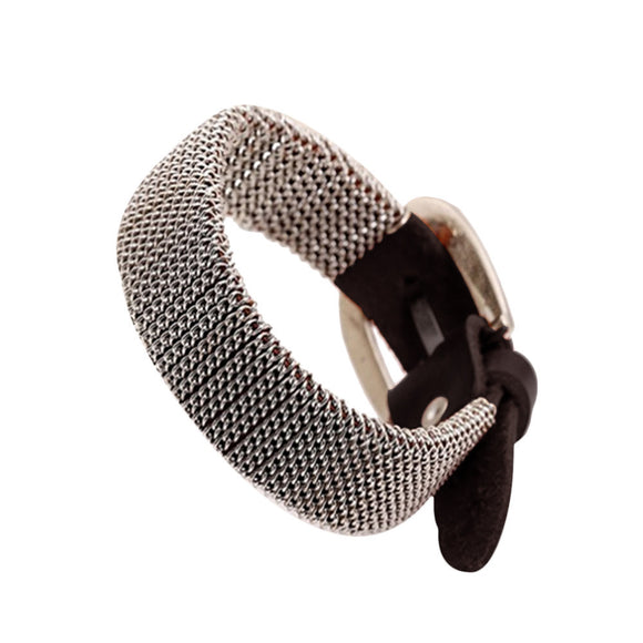 Men's Retro Alloy Bracelet Black