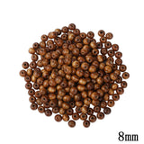 6mm 8mm Natural Wooden Beads 300 600pcs/Lot Wood Bead Brown Spacer Loose Hole Beads For DIY Jewelry Making