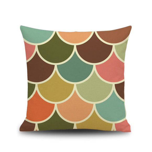 Geometry Painting Linen Cushion Cover Throw Pillow Case Sofa Home Décor
