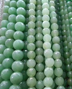 Wholesale AAA+ Faceted Green Aventurine  Natural Stone Beads For Jewelry Making DIY Bracelet 4/ 6/8/10/12 mm Strand 15.5''