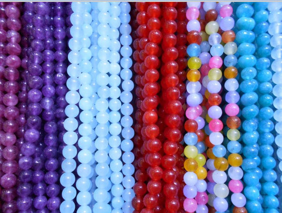 90pcs/lot 4mm AAA High quality multicolors Chalcedony  round natural  stone beads for DIY Bracelet jewelry making